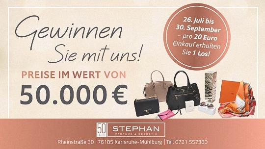 Stephan - pro 20 Euro Einkauf erhalten Sie 1 Los
